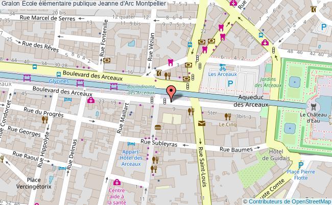 plan École élémentaire Publique Jeanne D'arc Montpellier Montpellier