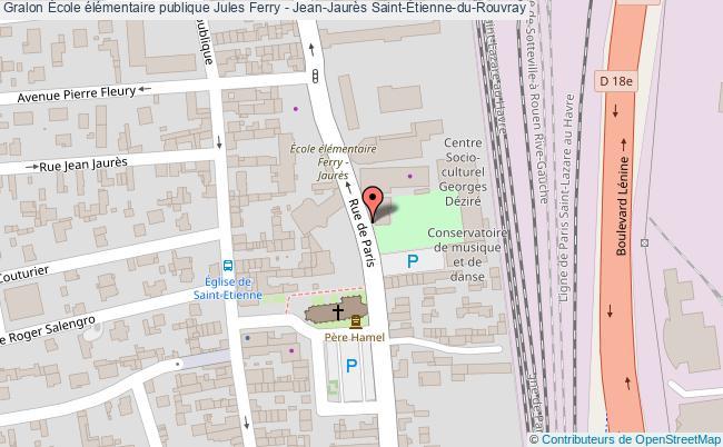 plan École élémentaire Publique Jules Ferry - Jean-jaurès Saint-Étienne-du-rouvray Saint-Étienne-du-Rouvray