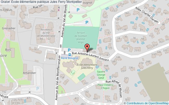 plan École élémentaire Publique Jules Ferry Montpellier Montpellier