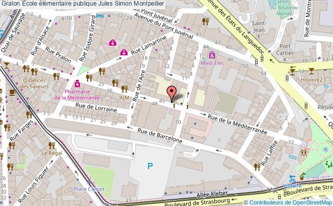 plan École élémentaire Publique Jules Simon Montpellier Montpellier
