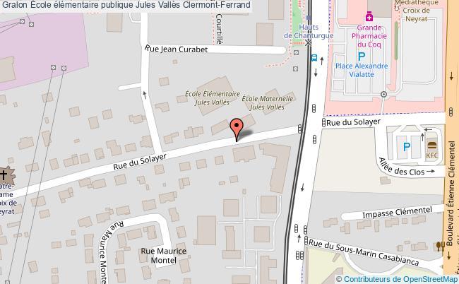 plan École élémentaire Publique Jules Vallès Clermont-ferrand Clermont-Ferrand