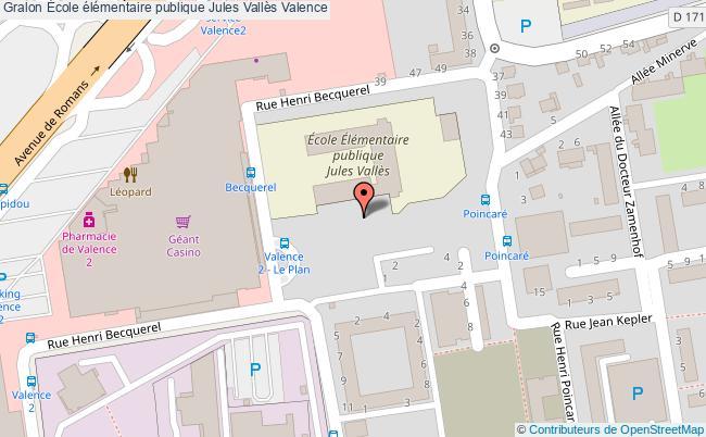 plan École élémentaire Publique Jules Vallès Valence Valence