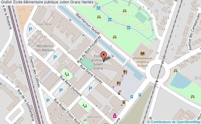 plan École élémentaire Publique Julien Gracq Nantes Nantes