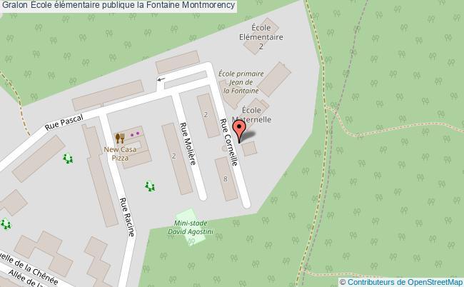 plan École élémentaire Publique La Fontaine Montmorency Montmorency