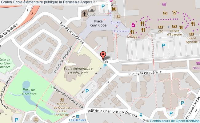 plan École élémentaire Publique La Perussaie Angers Angers