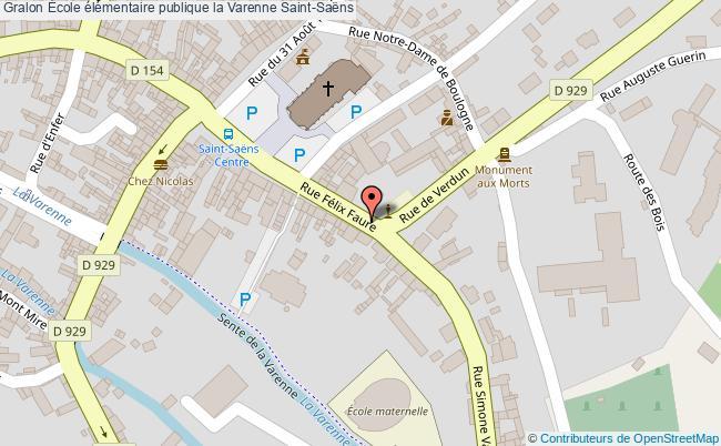 plan École élémentaire Publique La Varenne Saint-saëns Saint-Saëns