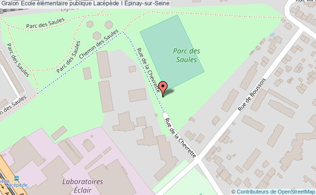 plan École élémentaire Publique Lacépède I Épinay-sur-seine Épinay-sur-Seine