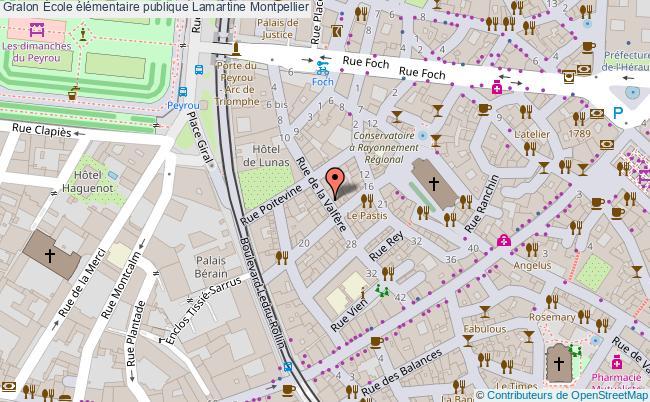 plan École élémentaire Publique Lamartine Montpellier Montpellier