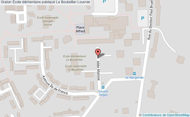 plan École élémentaire Publique Le Bouteillier Louvres Louvres