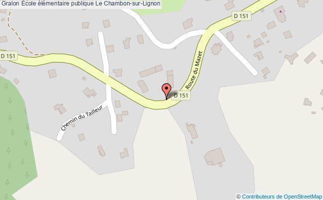 plan École élémentaire Publique Le Chambon-sur-lignon Le Chambon-sur-Lignon