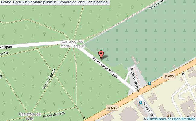 plan École élémentaire Publique Léonard De Vinci Fontainebleau Fontainebleau