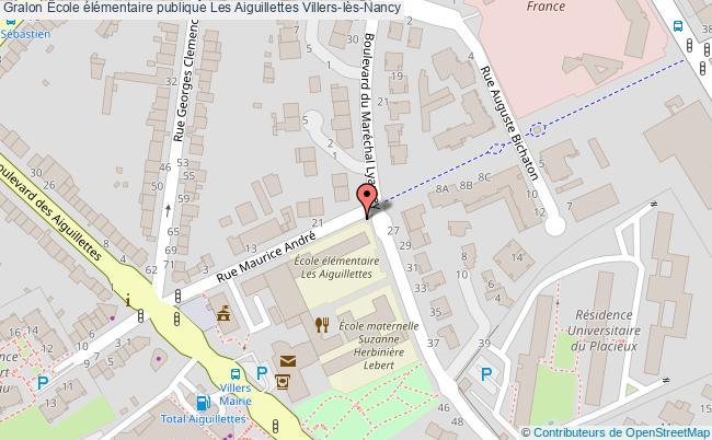 plan École élémentaire Publique Les Aiguillettes Villers-lès-nancy Villers-lès-Nancy