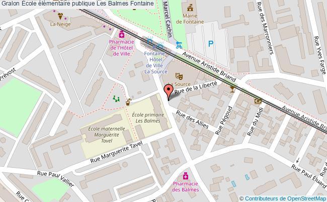 plan École élémentaire Publique Les Balmes Fontaine Fontaine