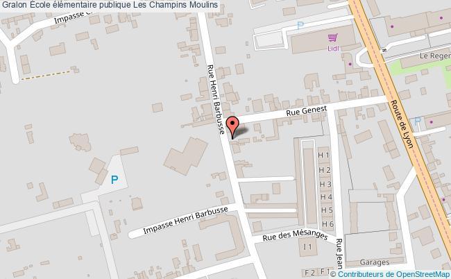 plan École élémentaire Publique Les Champins Moulins Moulins