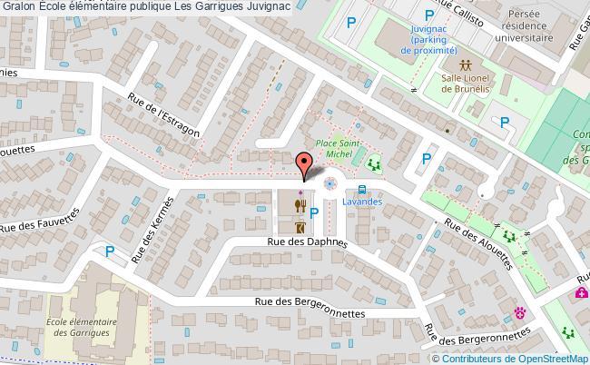 plan École élémentaire Publique Les Garrigues Juvignac Juvignac