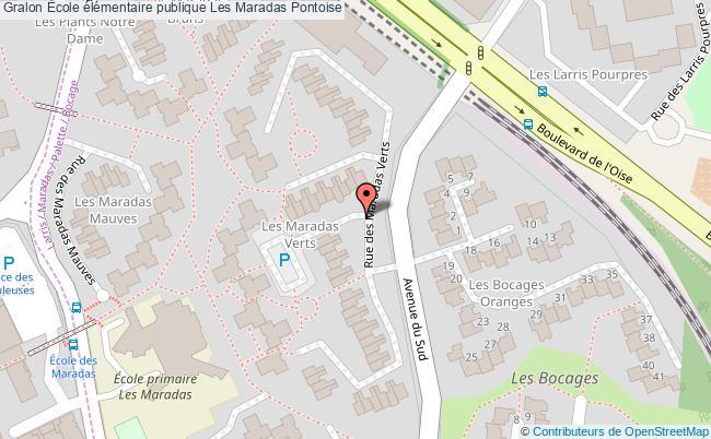 plan École élémentaire Publique Les Maradas Pontoise Pontoise