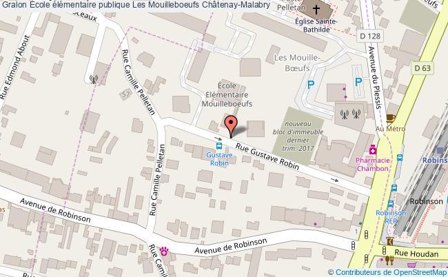 plan École élémentaire Publique Les Mouilleboeufs Châtenay-malabry Châtenay-Malabry