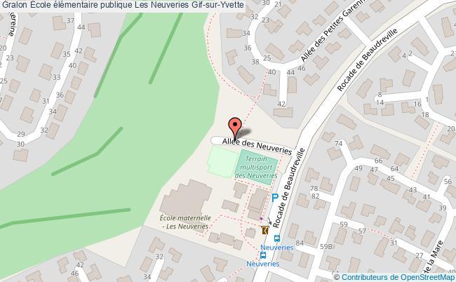 plan École élémentaire Publique Les Neuveries Gif-sur-yvette Gif-sur-Yvette