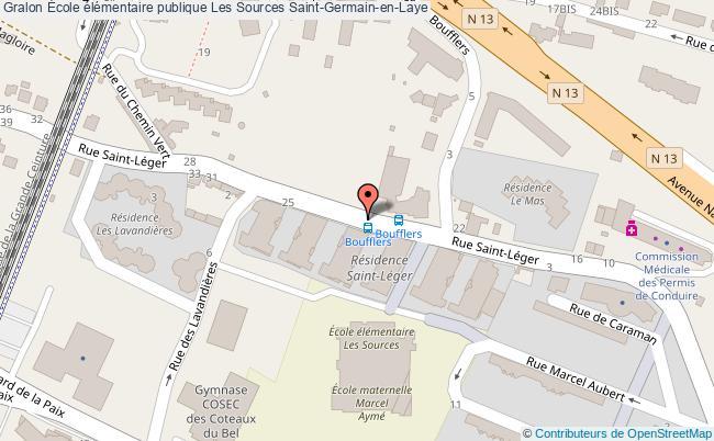plan École élémentaire Publique Les Sources Saint-germain-en-laye Saint-Germain-en-Laye