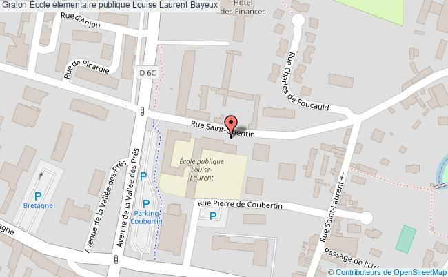plan École élémentaire Publique Louise Laurent Bayeux Bayeux