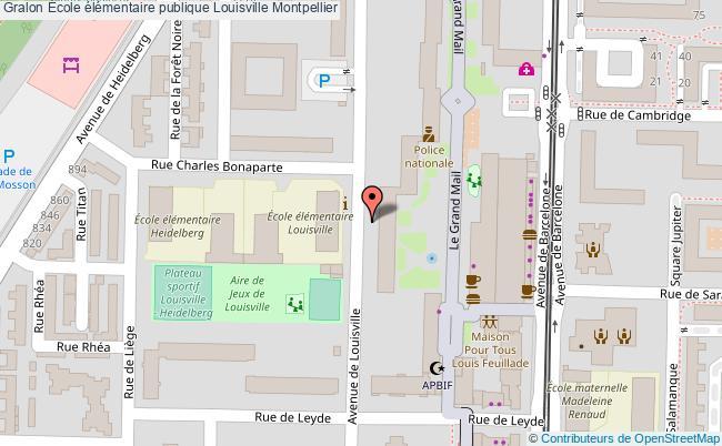 plan École élémentaire Publique Louisville Montpellier Montpellier