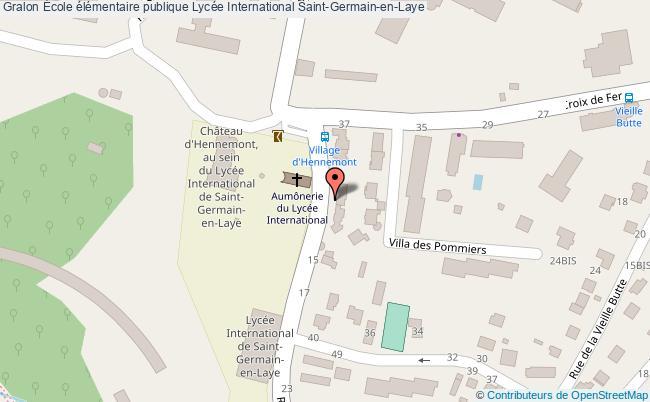 plan École élémentaire Publique Lycée International Saint-germain-en-laye Saint-Germain-en-Laye