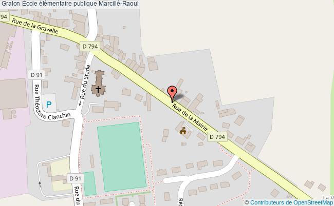 plan École élémentaire Publique Marcillé-raoul Marcillé-Raoul