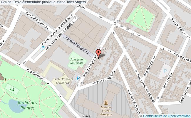 plan École élémentaire Publique Marie Talet Angers Angers