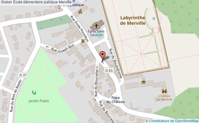 plan École élémentaire Publique Merville Merville