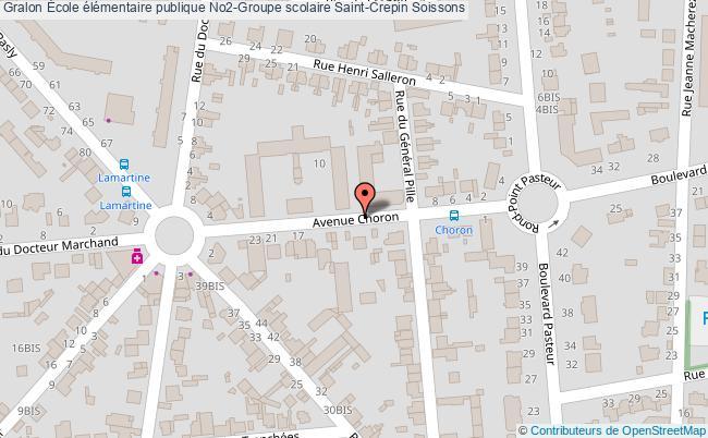 plan École élémentaire Publique No2-groupe Scolaire Saint-crepin Soissons Soissons