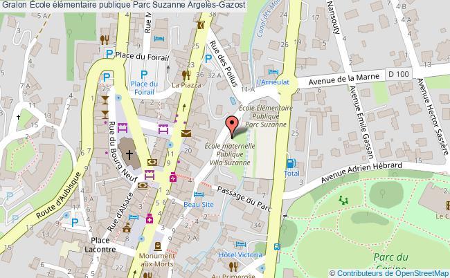 plan École élémentaire Publique Parc Suzanne Argelès-gazost Argelès-Gazost