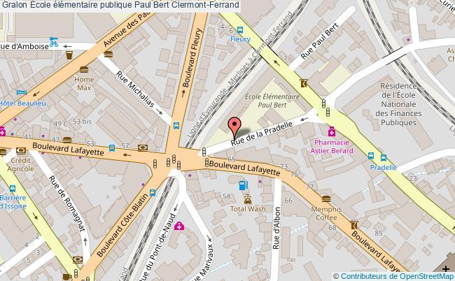 plan École élémentaire Publique Paul Bert Clermont-ferrand Clermont-Ferrand