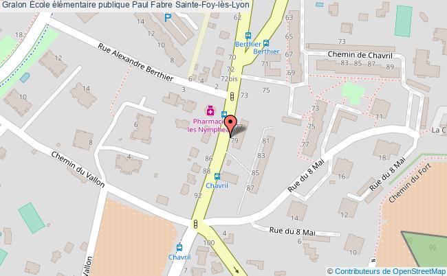 plan École élémentaire Publique Paul Fabre Sainte-foy-lès-lyon Sainte-Foy-lès-Lyon