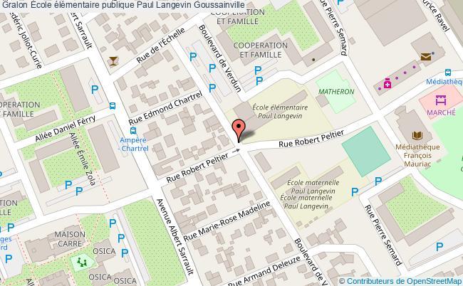 plan École élémentaire Publique Paul Langevin Goussainville Goussainville