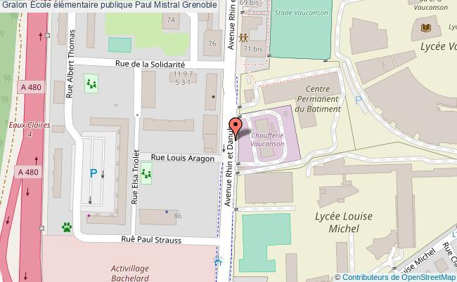 plan École élémentaire Publique Paul Mistral Grenoble Grenoble