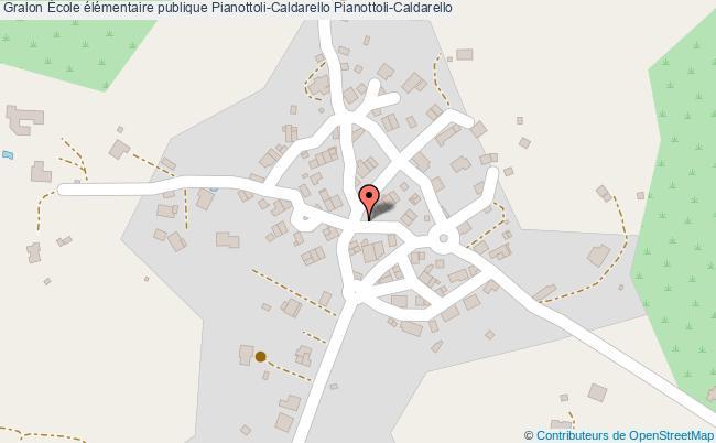plan École élémentaire Publique Pianottoli-caldarello Pianottoli-caldarello Pianottoli-Caldarello