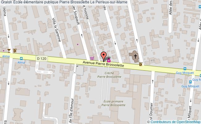 plan École élémentaire Publique Pierre Brossolette Le Perreux-sur-marne Le Perreux-sur-Marne
