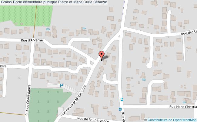 plan École élémentaire Publique Pierre Et Marie Curie Cébazat Cébazat