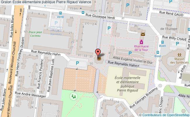 plan École élémentaire Publique Pierre Rigaud Valence Valence