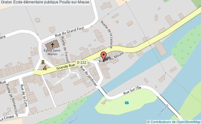 plan École élémentaire Publique Pouilly-sur-meuse Pouilly-sur-Meuse