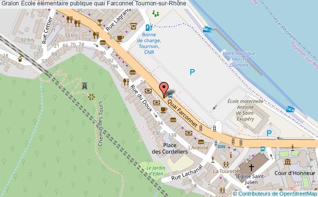 plan École élémentaire Publique Quai Farconnet Tournon-sur-rhône Tournon-sur-Rhône