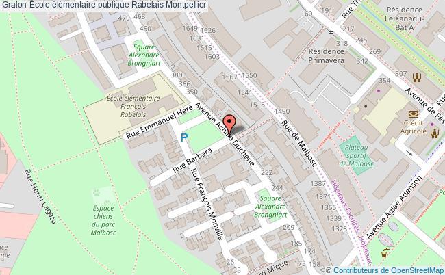 plan École élémentaire Publique Rabelais Montpellier Montpellier