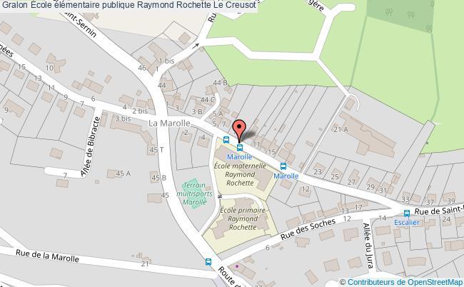 plan École élémentaire Publique Raymond Rochette Le Creusot Le Creusot