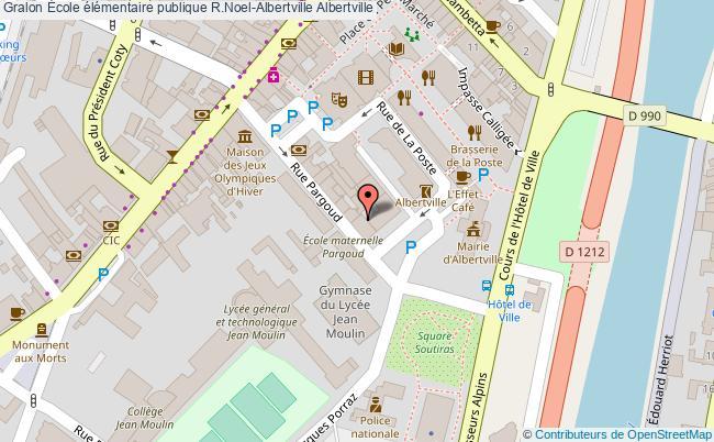 plan École élémentaire Publique R.noel-albertville Albertville Albertville