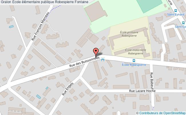 plan École élémentaire Publique Robespierre Fontaine Fontaine