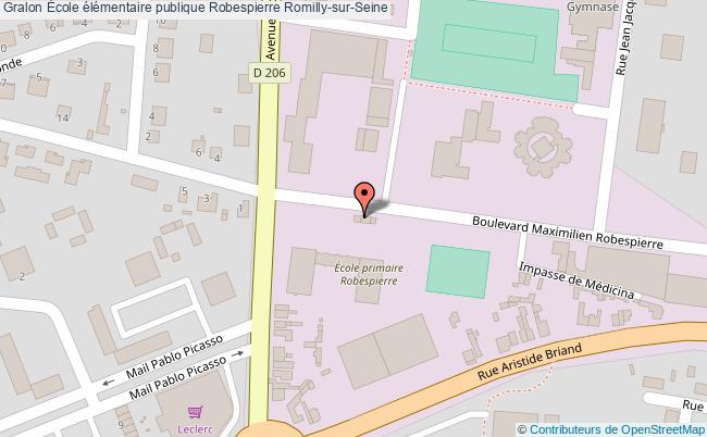 plan École élémentaire Publique Robespierre Romilly-sur-seine Romilly-sur-Seine