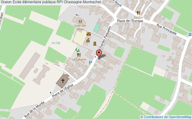 plan École élémentaire Publique Rpi Chassagne-montrachet Chassagne-Montrachet