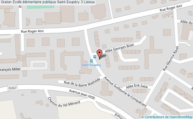 plan École élémentaire Publique Saint-exupéry 3 Lisieux Lisieux