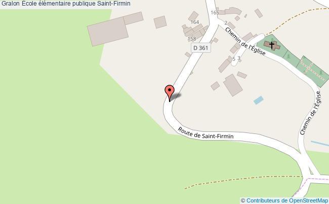 plan École élémentaire Publique Saint-firmin Saint-Firmin