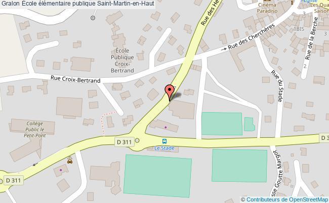 plan École élémentaire Publique Saint-martin-en-haut Saint-Martin-en-Haut